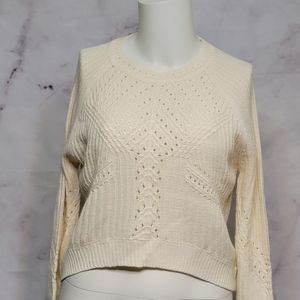 Topshop White Knit Sweater Size 6